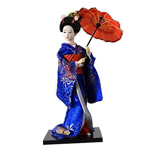 Muñecas japonesas Geisha Girl Geiko Kimono muñeca decoración del hogar Colección de arte, # 23