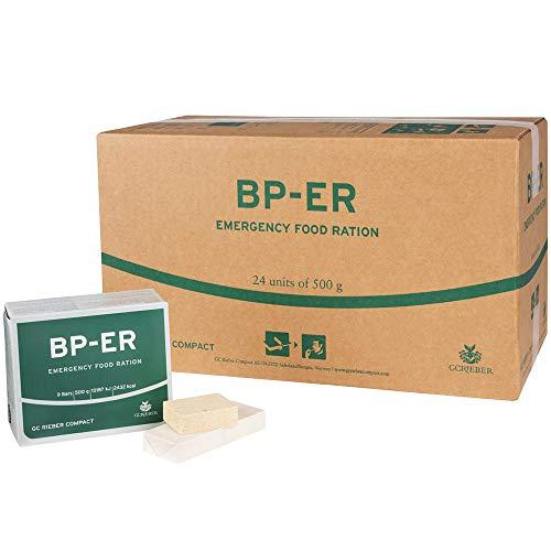 BP ER Elite Emergency Food 24 x 500 Gramm Einheit Langzeitnahrung - Produkt BPA-Frei und hermetisch versiegelt ( Charge 2020 und Zertifikat vom Händler Lebenskraft )