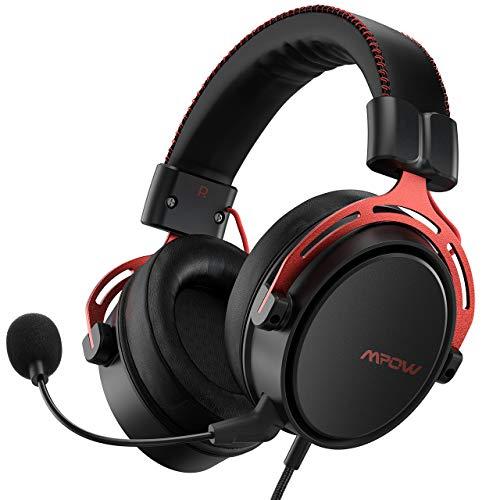 Mpow Air SE Gaming-Headsetsurround-Sound-Spielkopfhörer mit Mikrofon mit Geräuschunterdrückungin-Line-Steuerungover-Ear Ohrhörermulti-Plattform- Headset für PC/PS4/PS5/Xbox One/Switch