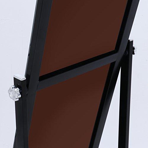 不二貿易スタイリッシュミラー角度調節キャスター付き飛散防止クロムブラック67686