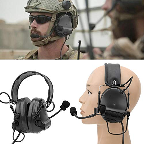 SALUTUYA Protege los oídos Material de los Auriculares con micrófono a Prueba...