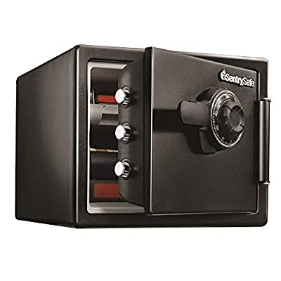 SentrySafe SFW082F Fireproof Safe and Waterproof Safe with Digital Keypad 0.82 Cubic Feet Black