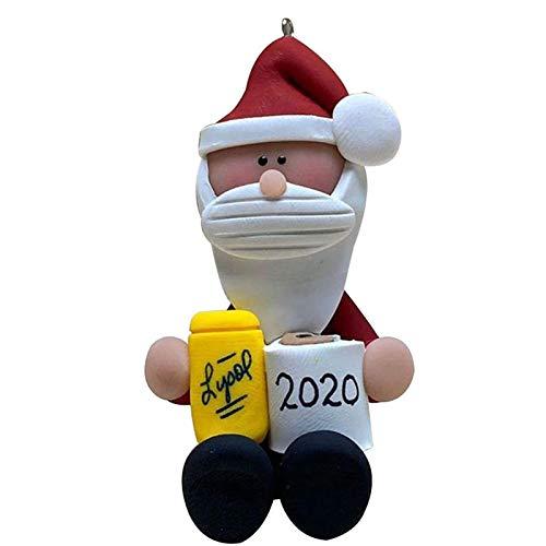 PHLPS 2020 Ornamentos de Animales, sosteniendo Papel Navidad Lindo Animal Supervivencia Colgante Animal Llevar Año Nuevo Fiesta Adorno de Navidad para Amigos de la Familia (Color : Si)