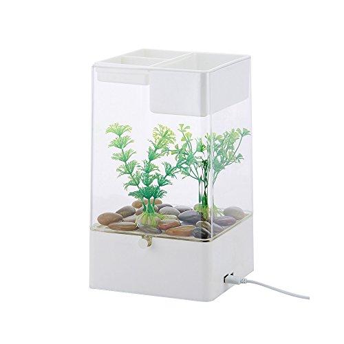 CNMF klein aquarium nano aquarium kan planten en dieren in 1 aquarium verhogen. Te gebruiken in kantoren, huizen, restaurants, openbare plaatsen, enz.