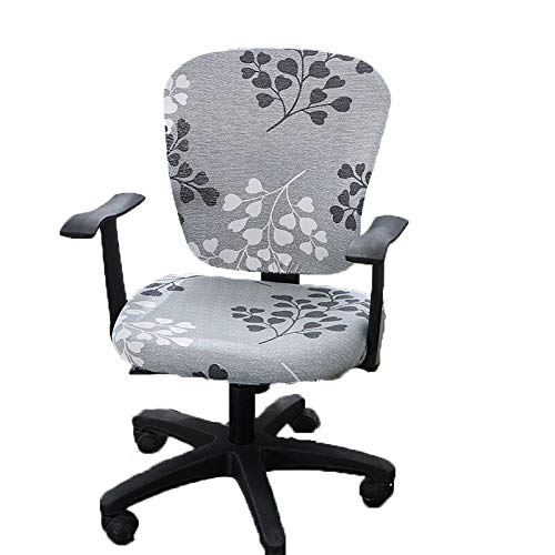 wonderfulwu Computer Office Chair Cover, Universal Removable Washable Rotating Armchair Cover, Heart Leave