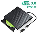 Lecteur CD/DVD Externe, Kingbox USB 3.0 Type C Graveur CD Externe DVD Portable Léger...