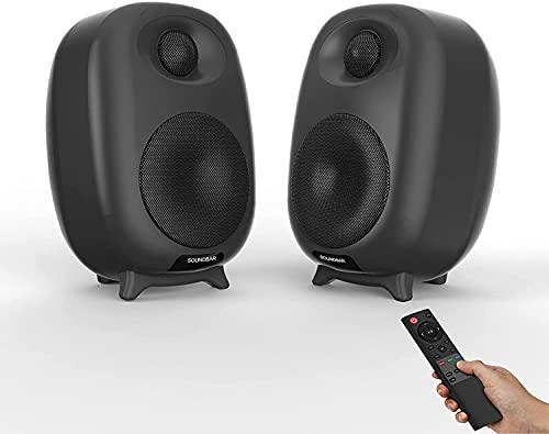 Barras de Sonido para TV, Profesional Sonido Envolvente Altavoz para TV/Home Cinema, Apoyo RCA/AUX/óptico/USB/TF Tarjeta, Compatible para TV, Moviles, Tableta,Montable en la Pared