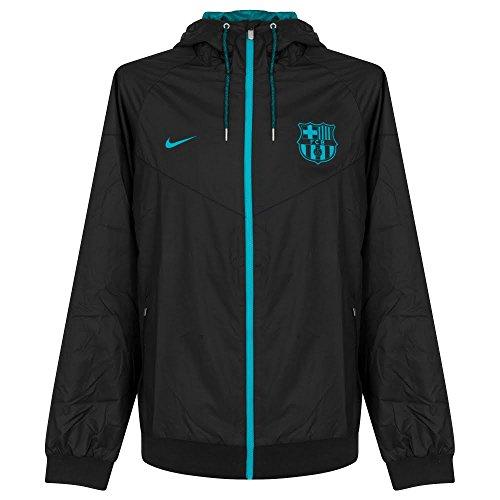 Nike Herren Jacke FC Barcelona Linie für M NSW WR WVN AUT, Schwarz, Herren, M NSW Wr WVN AUT, S