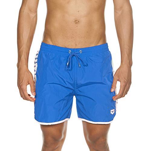 Arena Team Stripe Short Mare Sportivi, Uomo, Blu (Pix Blue-White-Pix Blue), L