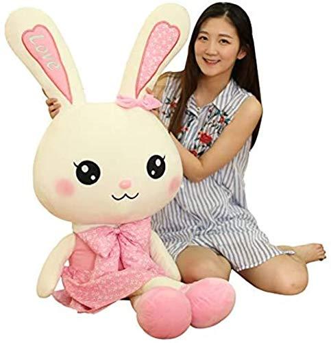 Plüsch Häschen, Puppe Puppe, Spielzeug Nette Cartoon Anime Junge Mädchen Geburtstagsgeschenk Kreative Praktische Geschenk Rag Puppe Freundin Kissen Baby Jungen und Mädchen -65cm (Größe: 100 cm) Jikasi