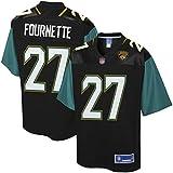 SXFGML 27# Jaguars Maillots de Football américain, Fournette Jaguars Fan Rugby Maillots de Formation de Broderie T-Shirts Hauts Manches,Noir,S
