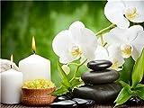 TYH Rompecabezas de orquídeas de 300 Piezas, Rompecabezas de Madera para Adultos, Rompecabezas para Divertidos Juegos Familiares, decoración del hogar