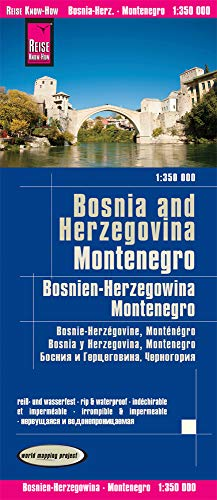 Reise Know-How Landkarte Bosnien-Herzegowina, Montenegro (1:350.000): world mapping project Edition: 2. updated on 8. Jan. 2020: reiß- und wasserfest (world mapping project)