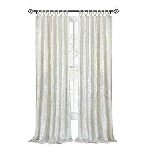 "Achim Home Furnishings, Creamy White Harper Criss-Cross Window Curtain Panel, 50"" x 84"""