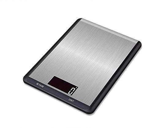 Báscula de cocina digital Abester con plataforma de pesaje de acero inoxidable, pantalla LCD retroiluminada, báscula electrónica para alimentos, alta precisión en gramos y onzas