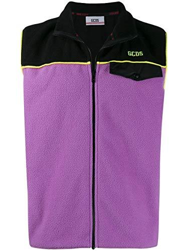 Luxury Fashion | Gcds Heren FW20M02001011 Paars Polyester Gilets | Herfst-winter 19