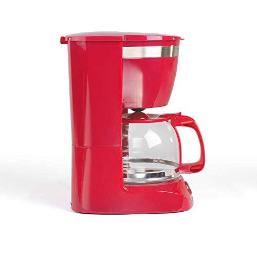 Cafetera con jarra de cristal para 12 tazas, función de mantenimiento en caliente (cafetera, cucharilla de café, apagado automático, indicador de nivel de agua)