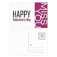 バレンタインデーの祝福の祭りの休日を祝う祭りの祝賀の言葉 ポストカードセットサンクスカード郵送側20個ミス