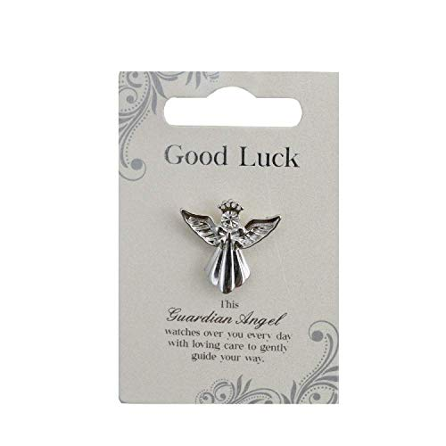 Guardian Angel Good Luck | Gift Idea | Pind Badge | Brooch Pin, Silver, One Size
