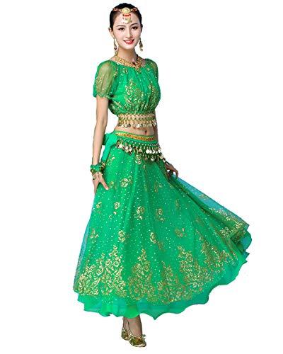 Grouptap Bollywood Verde Indio Mujeres señoras fantasía