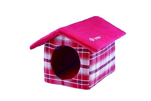 Nobby 69588-01 Kuschel-Haus für kleine Hunde oder Katzen, rot, 51 x 40 x 33 cm