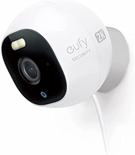 Eufy Security by Anker Outdoor Cam 2K All-in-One Outdoor Security Camera with 2K Resolution, Spotlight, Color Night Visio...