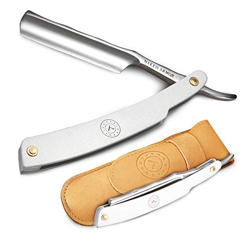 Stainless Steel Straight Razor, Silver Merlin,...