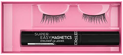 Catrice Super Easy Magnetics Eyeliner & Lashes, Nr. 020 Xtreme Attraction, schwarz, vegan, Nanopartikel frei, ohne Parfüm, 3er Pack (3 x 1 Paar)