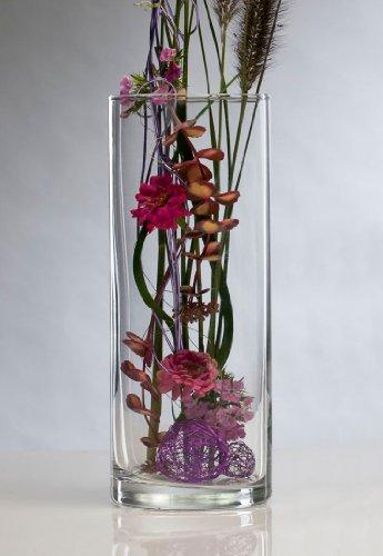 Glasvase Vase Glas Blumenvase Tischvase Zylinder 30 cm