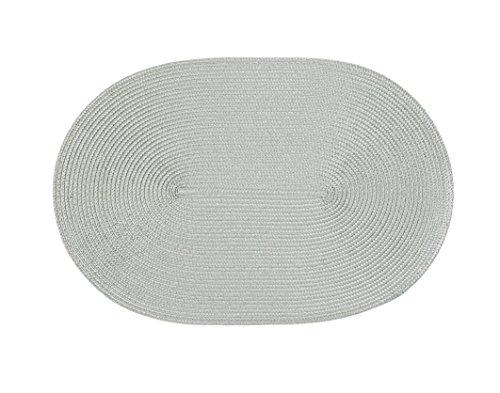 Stuco Trends Textiles Platzset, 100% Polypropylen, Silbergrau, 45 x 30 x 0.2 cm, 4-Einheiten