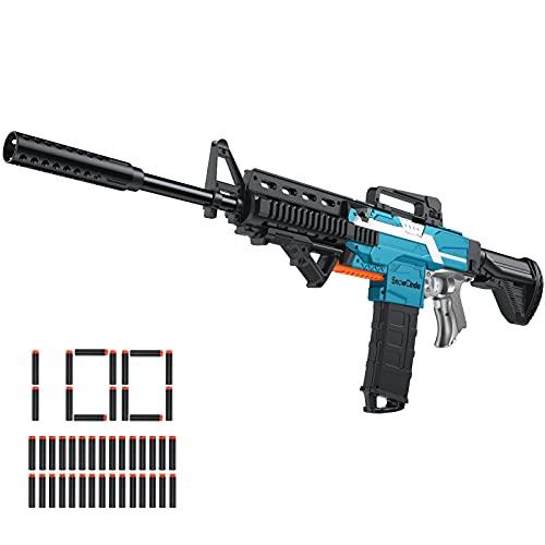 Toy Gun for Nerf Guns Automatic Machine Gun, DIY Customized Toy Foam Blasters & Guns with 3 Shooting...