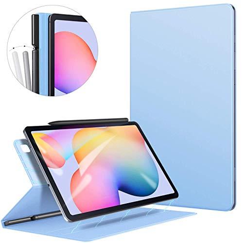 ZtotopHülle Hülle für Samsung Galaxy Tab S6 Lite,Ultra dünn Smart Magnetisches Abdeckung Schutzhülle mit Stifthalter,Automatischem Schlaf/Aufwach,für Samsung S6 Lite 10.4 Zoll 2020 Tablette,Hellblau