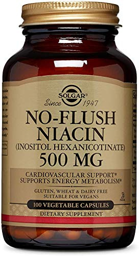 Solgar ? No-Flush Niacin (Vitamin B3)(Inositol Hexanicotinate) 500 mg,...