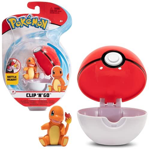 WCT Pokémon Clip 'N' Go Charmander y Poké Ball | Contiene 1 Figura de 5 cm y 1 Poké Ball | Nueva Ola 2021 | Licencia Oficial