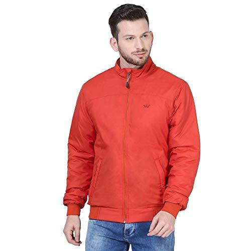 Wildcraft Men's Regular Jacket (41338_ORANGE_Orange_Large)