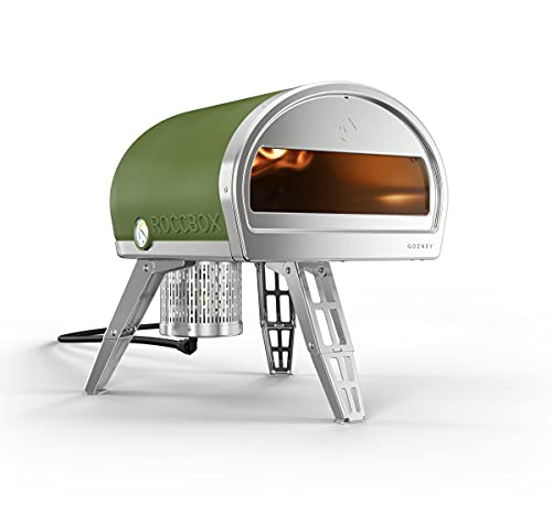 ROCCBOX by Gozney Portable Outdoor Pizza Oven - Gas Fired, Fire & Stone Outdoor Pizza Oven - New Olive Green