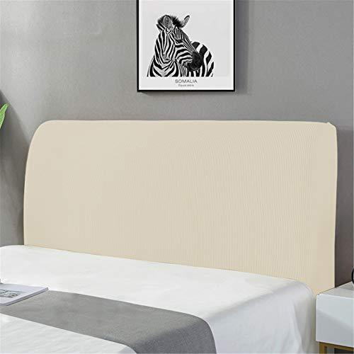 XDKS - Copritestiera, copertura per testiera, copertura per testiera del letto, copertura antipolvere laterale elasticizzata, protezione integrale per la testa del letto (120 cm, avorio)