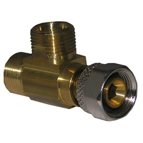 LASCO 06-9111 Angle Stop Add-A-Tee Valve, 3/8-Inch Compression Inlet X 3/8-Inch Compression Outlet X 3/8-Inch Compression Outlet, Brass