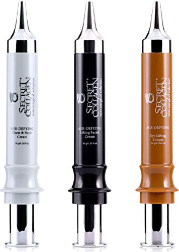 Secret Collagen Stem Cell Set of 3 Deep Moisturizing Anti Aging Cream and Wrinkle Remover for Face, Neck and Eyes - Advanced Formula for Men and Women Maryland