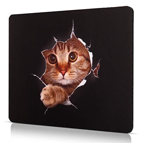 CHUQING Mauspad Klein Mousepad Katze Anti Rutsch Mouse Matte 240x200 mm
