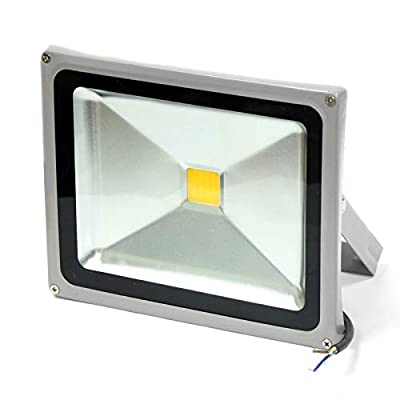 GLW 30w LED Flood Light 100-240V AC Outdoor Lamp IP65 WARM WHITE 3000K SILVER
