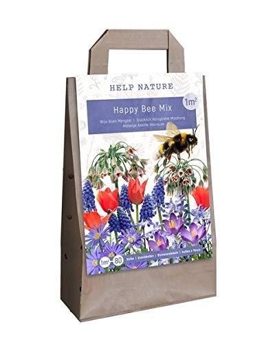 Blumenzwiebel-Mix Happy Bee - 80 Blumenzwiebeln - bienenfreundliche Zwiebelmischung für bunte Blumenbeete im Frühling