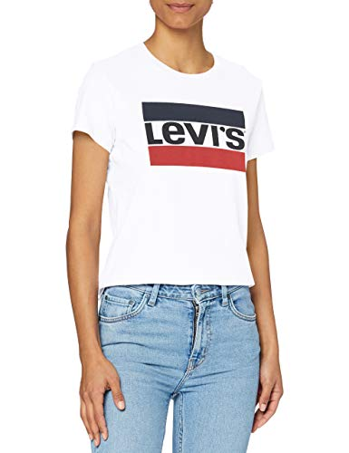 Levi's The Perfect Tee T-Shirt, Sportswear Logo White, S Donna