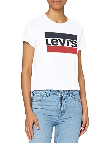 Levi's The Perfect Tee T-Shirt - Femme-Blanc (Sportswear Logo White 0297)-Small