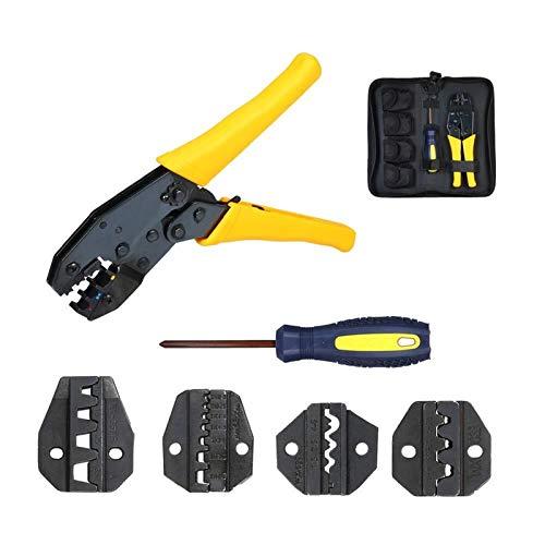 LIMEI-ZEN Terminal Crimping Plier - Wxk-30J Crimping Tool Kit Crimper Plier Set for 0.5-35Mm² Terminal Crimping Pliers Electrician Tools Set with S6GbS03BS25TwS35Wf Crimping Die Pliers