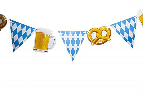Kogler 1 Stück Bayern Dreieck Fahne Banner in Tüte Papier blau/weiß One Size