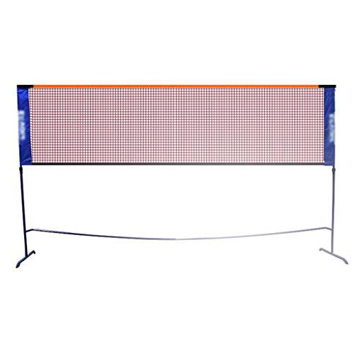 Tennis net Nets Badminton Net Rack Portable Professional Standard Outdoor Home Mobile Simple Folding Net Column Shelf Best Gift (Color : Black, Size : Net Width=610cm)