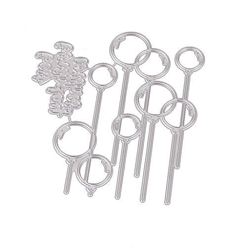 cxnwuggfvsc Troqueles de corte de metal para manualidades, álbumes de recortes, papel de estampación