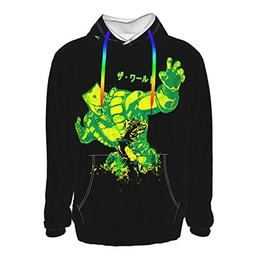 Yaitty JoJo's Bizarre Adventure Za Warudo 3D Printed Man Casual Sweatshirt XXL Black