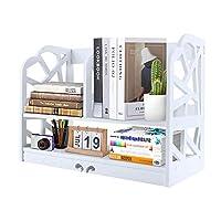 デスクトップ本棚木製デスクトップ収納ラックDIYオフィス収納ラック自立型木製棚収納デスクオーガナイザー事務用品、キッチン、バスルーム用化粧品収納ラック